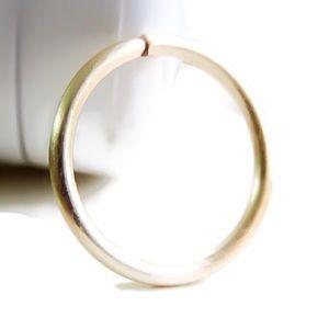 Gold seamless hoop for piercings